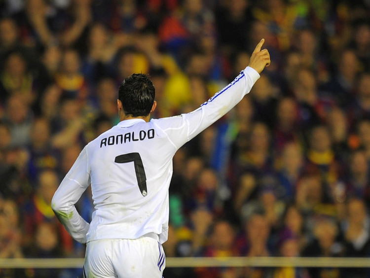 When Ronaldo was in (playing for) Real Madrid, he scored 451 goals