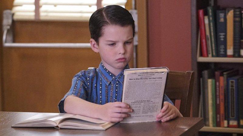 When (he was) nine years old, Sheldon went to high school