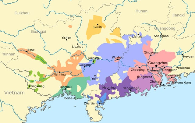 Cantonese geography spread