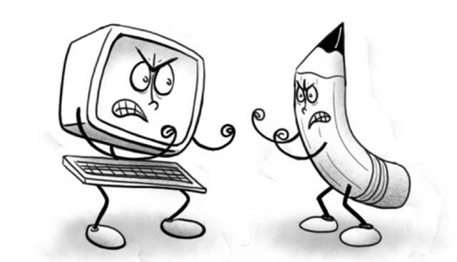 computer vs pen